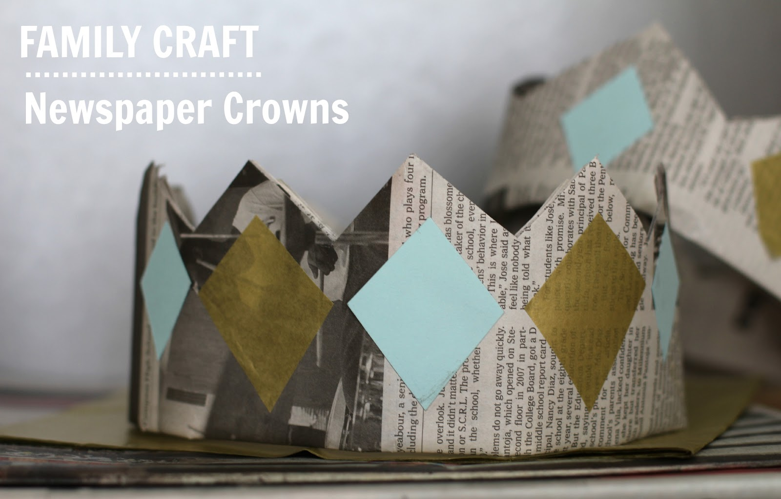 Family Craft Newspaper Crafts Kids Arts